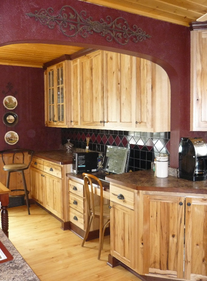 rustic hickory with red tones great colours cabin red