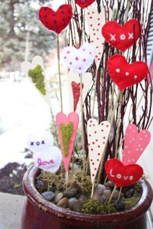 idée de déco extérieure pour la Saint Valentin