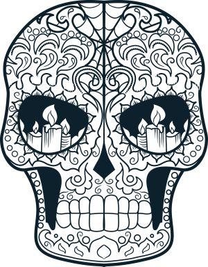 219 best Printable Sugar Skulls Coloring images on ... - photo#27