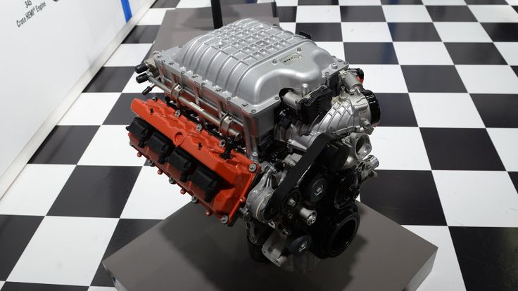 Hellcrate 6.2-liter V8 delivers plug-and-play Hellcat hype to SEMA  ||  Chrysler puts the 707-horsepower Hellcat engine on the a la carte menu. https://www.autoblog.com/2017/10/30/hellcrate-hellcat-crate-engine-mopar-6-2-liter-v8/?utm_campaign=crowdfire&utm_content=crowdfire&utm_medium=social&utm_source=pinterest