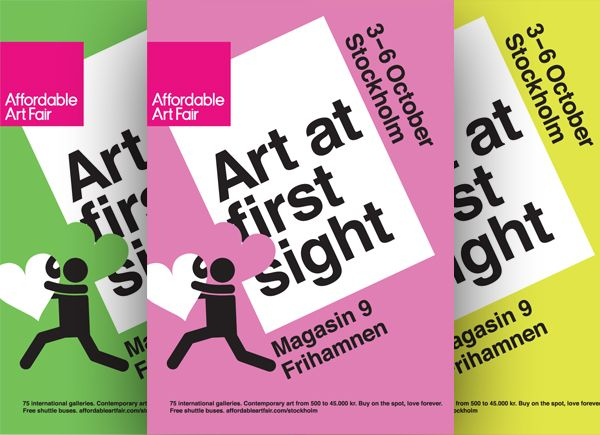 Campaign material for Affordable Art Fair in Stockholm.