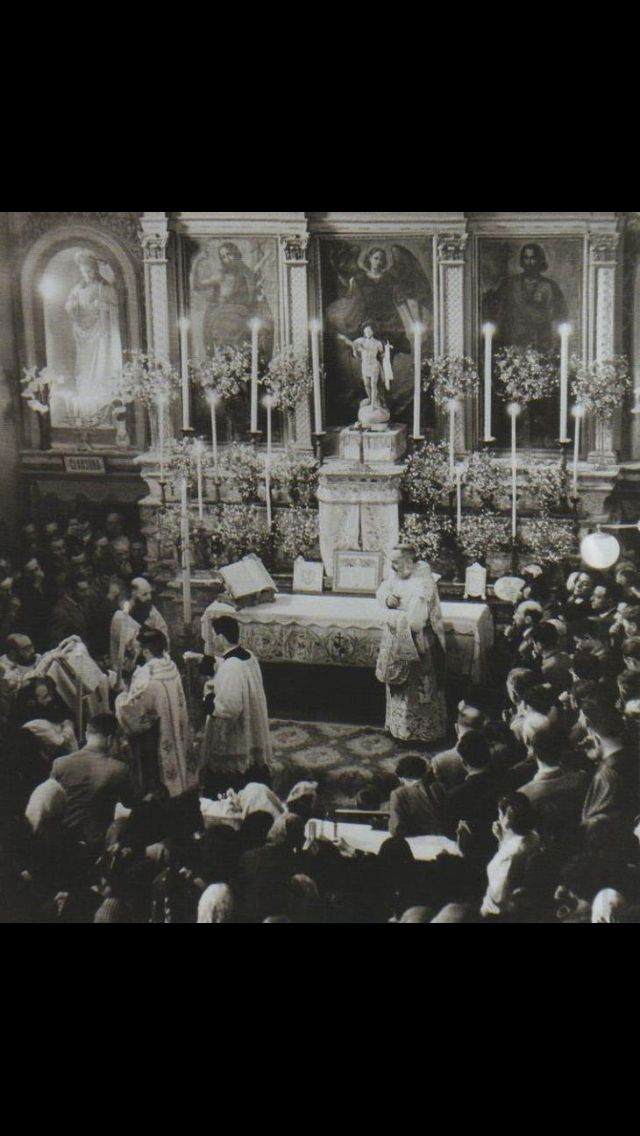 High Mass with St. Padre Pio as celebrant.