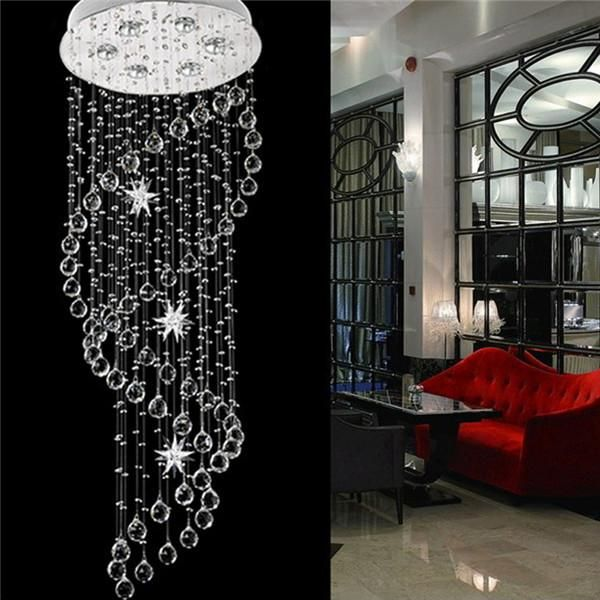 Staircase Spiral LED Crystal Pendant   Led crystal chandelier, Ceiling  lights, Ceiling lamp dining room