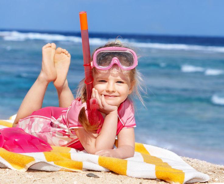 Summer fun must haves! Personalised kids beach towel. #personalisedtowels #personalisedbeachtowels
