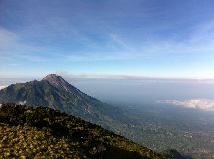 that mountain you see is Merapi.