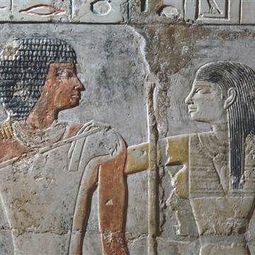 Pyramid Age love story comes to life in Egyptian tomb's vivid color