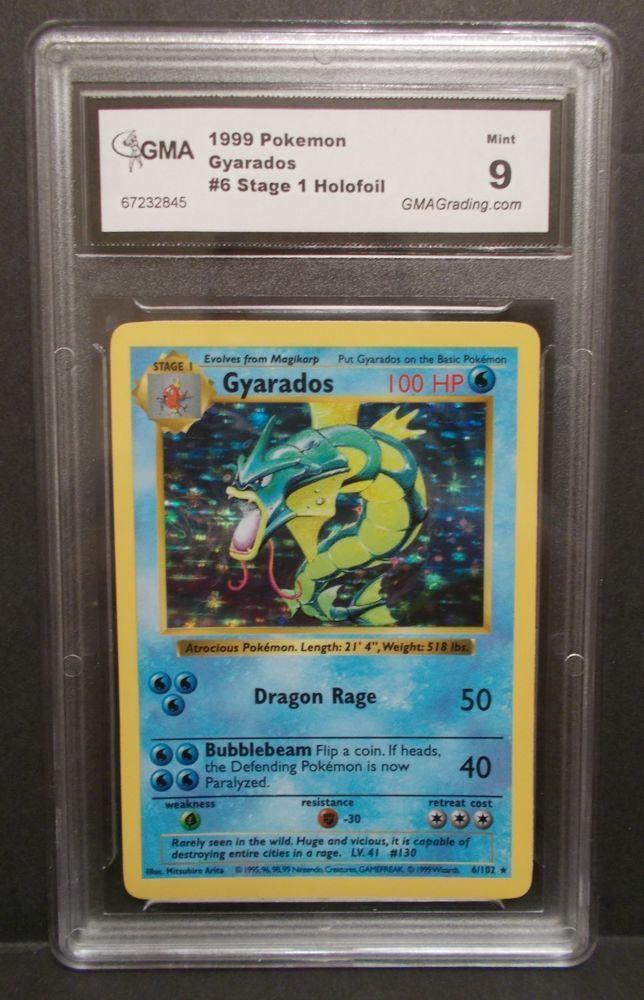 Pokemon Gyarados Holo Stage 1 Card 6/102 GMA Mint 9
