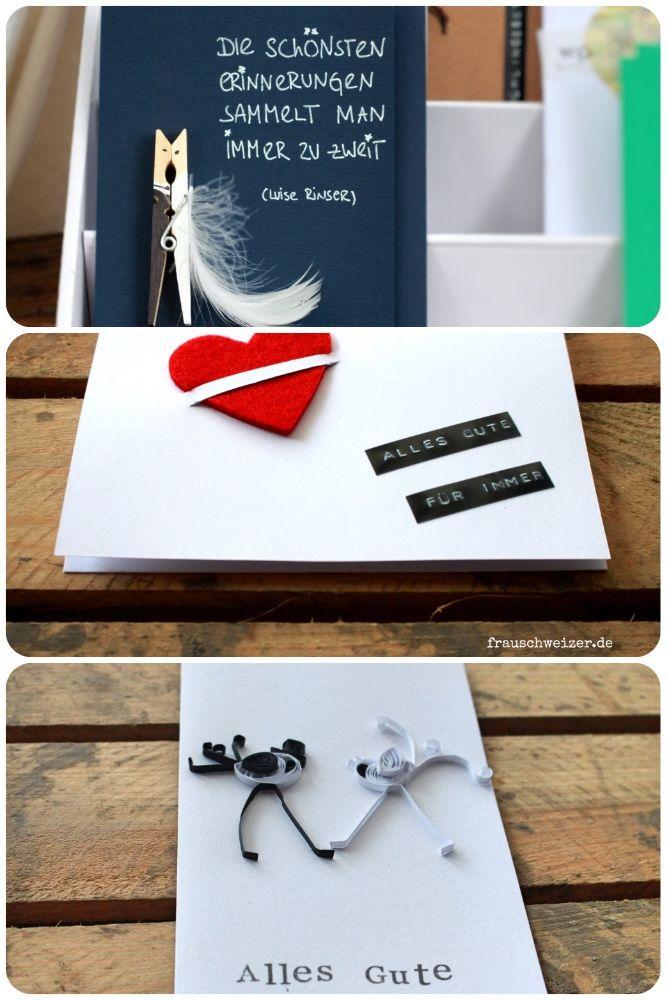 selbergemachte Karten. von Hochzeit, über Geburtstag bis hin zum Trauerfall. Für jedes Lebensereignis gibt es Karten!