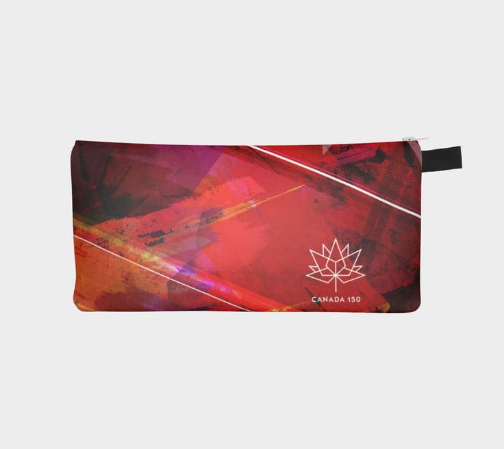 Canada 150 - Pencil Case by kristinabensonart on Etsy https://www.etsy.com/listing/510362290/canada-150-pencil-case