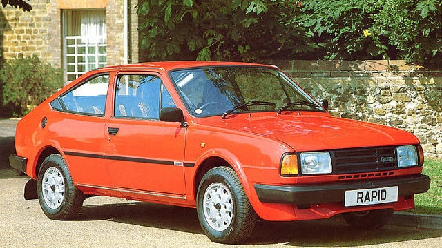 Skoda Rapid, a rear-engined coupe from Czechoslovakia.  If you grew up in the Soviet Bloc, this was your Mustang.