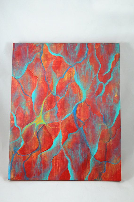 Abstract originale pittura 16x20 tela mista di SilverBirdBoutique