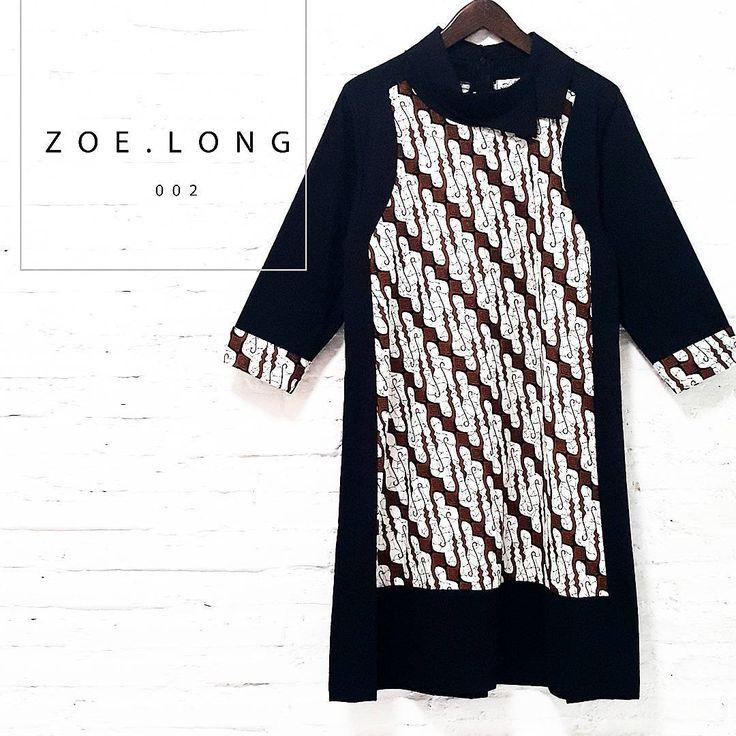 New in store  Zoe Long 002  IDR525,000  Asymmetric Semi-Satin Collared Dress Batik ParangCombination with 3/4 Sleeve  Length of Blouse : approx. 92 cm.  Material Used : Batik Parang, Cotton / Black Cotton Fabric  Standard Zipper Length (50-55cm) at the back  www.nonandnik.com  #batik #batikindonesia #fashionindonesia #batikdress #batikmodern #batikshop #fashionbatik #batikfashion #ootdbatik #onlineshop #localbrand #readytowear #batiknonik #nonandnik