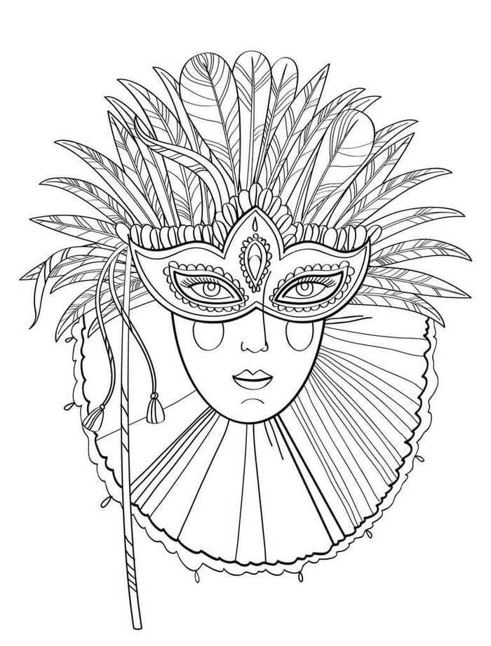 Free Mardi Gras Coloring Pages Printable Coloring Pages Carnival Masks Mardi Gras Mask