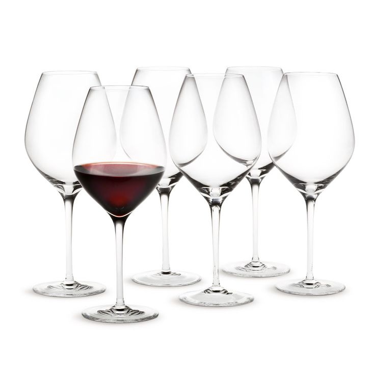 Cabernet Wine glass, 50 cl Set of 6 - Peter Svarrer - Holmegaard - RoyalDesign.co.uk
