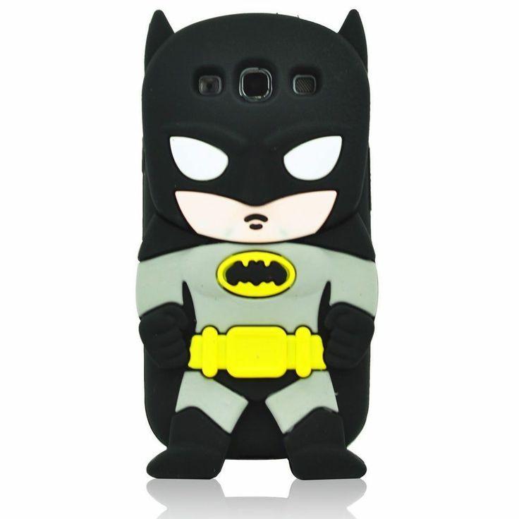 Black 3D Batman Soft Silicone Back Case Cover Skin for Samsung Galaxy S3 i9300