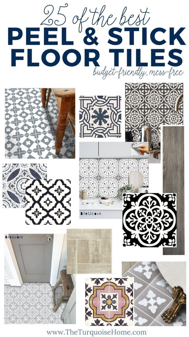 Did You Know That You Can Grout Peel And Stick Vinyl Tiles To Look Just Like Ceramic Tile You Can And Here S How Ceramic Floor Tile Tile Floor Vinyl Flooring