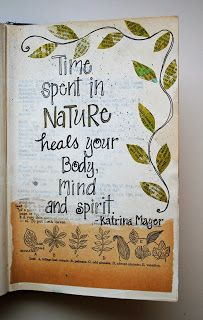 Nature - art journal inspiration.