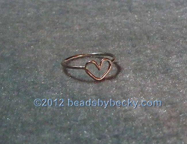 Open Heart Ring sterling silver artisan crafted soldered wire 925 - Promise Ring - Valentine Gift - Love Her - Simple Ring - made to order - pinned by pin4etsy.com
