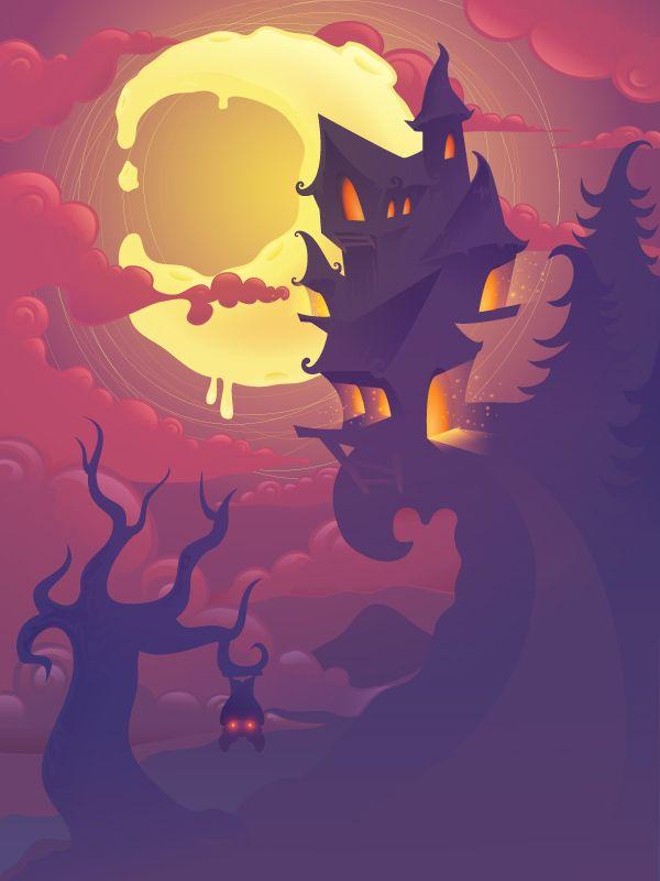 Create a Mysterious Halloween Scene in Adobe Illustrator by Yulia Sokolova   design.tutsplus.com