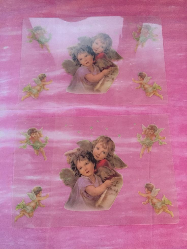 Clear angel placemat