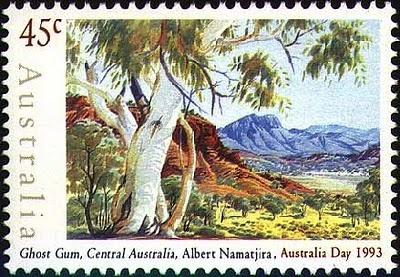 Albert+Namatjira+Stamp