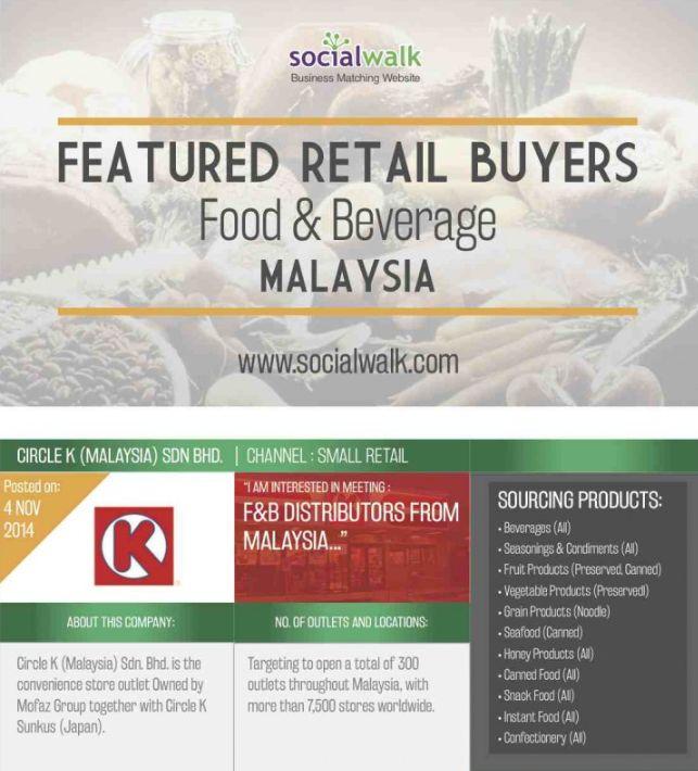 Featured #FoodAndBeverage Retail #Buyers: Malaysia...