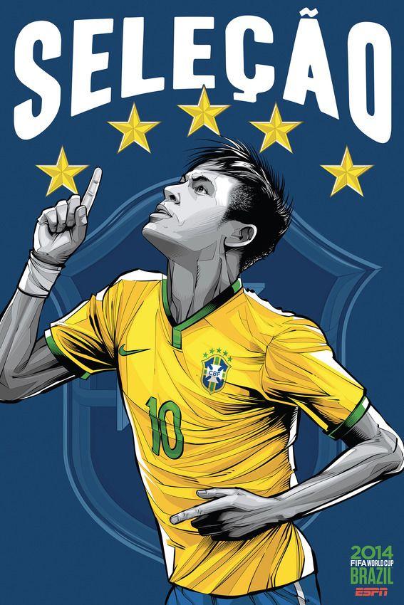 """Seleção""/ ""The Selection"" - 2014 Fifa World Cup Brazil / Brasil ESPN - Neymar 10"