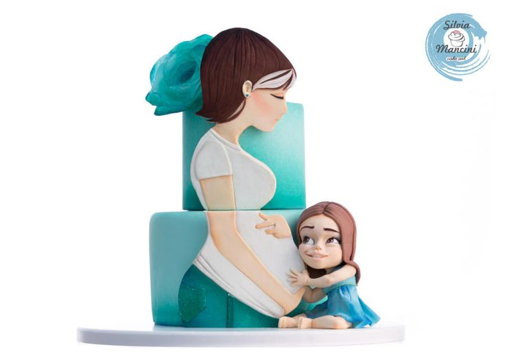 MY BABY SHOWER CAKE  by Silvia Mancini Cake Art