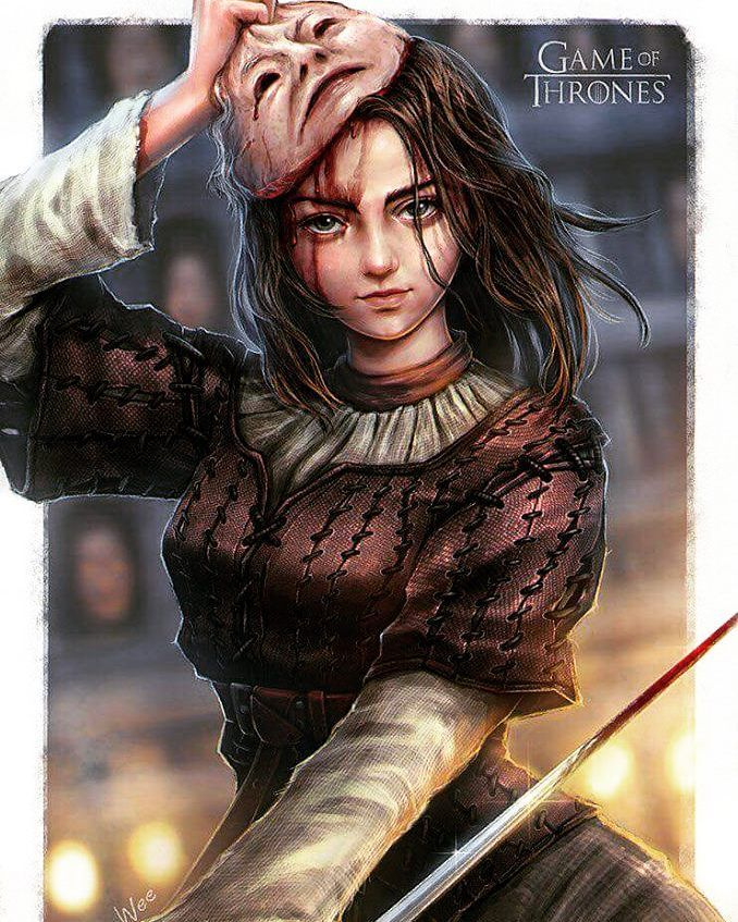 Game of Thrones Arya Stark - by SpiderWee ° #aryastark #thehound #nymeria #noone #valarmorghulis #sansastark