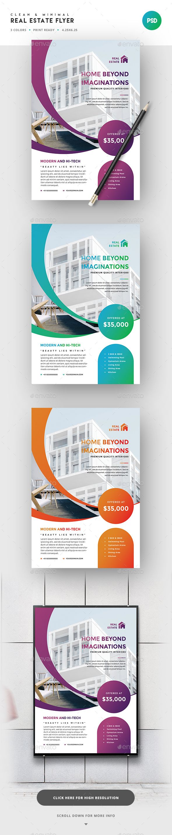 House for sale real estate flyer amp ad template word amp publisher - Real Estate Flyer Template