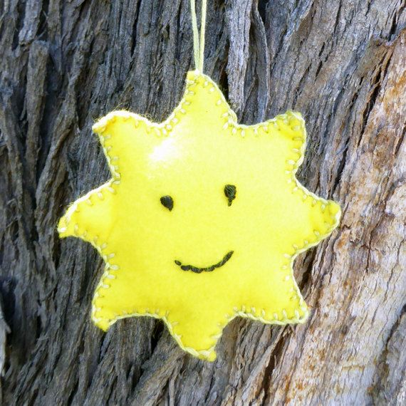 A little bit of sunshine! My latest Etsy craft kit is a hanging felt ornament project.