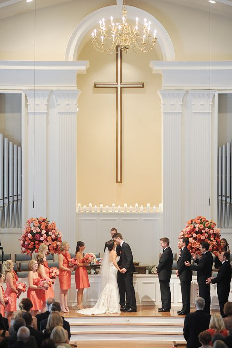 D Weddings | Angela Spence & Andrew Mosier - coral wedding decor and flowers