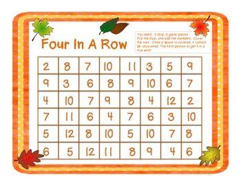 maths games three in a row