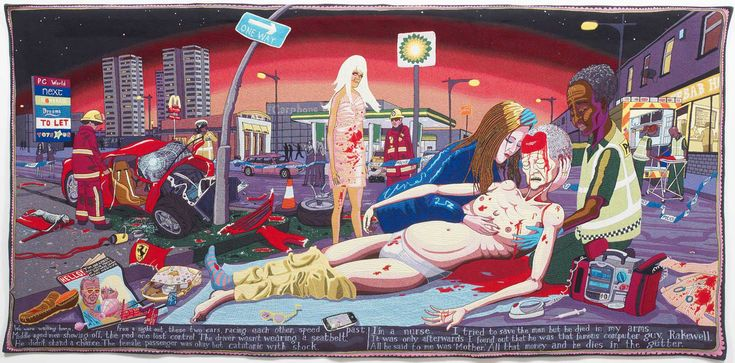 Lamentation, Grayson Perry, 2012 #art #tapestry