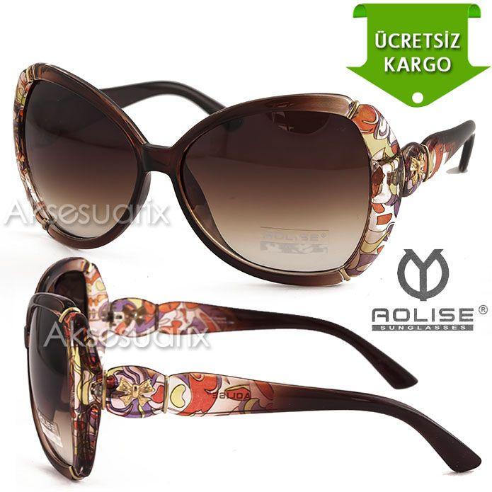 Vintage Aolise  Bayan Güneş Gözlüğü T551201 KAHVE http://www.aksesuarix.com/bayan-gunes-gozlugu