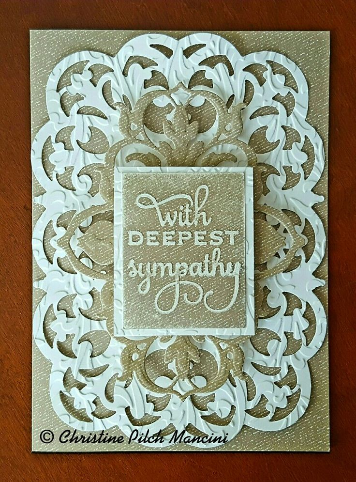 Sympathy card that I made from Anna Griffin Perfect Palette A7 and layer, cutting dies. Mix and Match embossing folder #AnnaGriffin #Cuttlebug #SympathyCard #Handmade