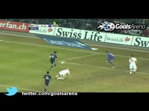 Messi second gol for Argentina, Switzerland - Argentina friendly 29.02.12