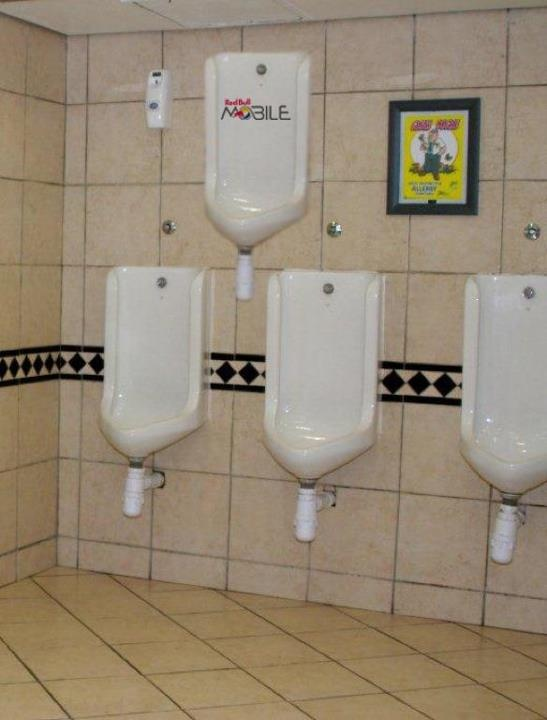 Urinal wall decal for RedBull Mobile