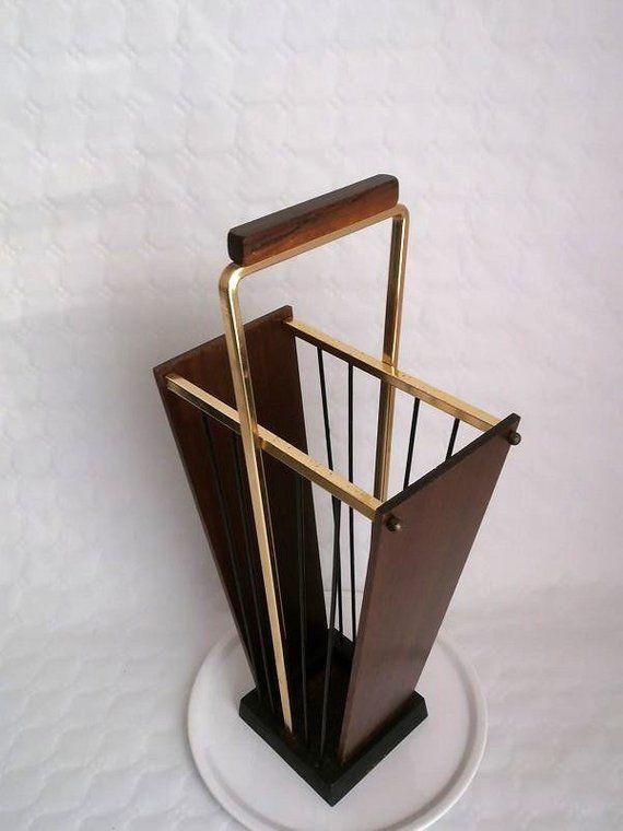Vintage Umbrella Stand 50s West Germany Umbrella Stand Black