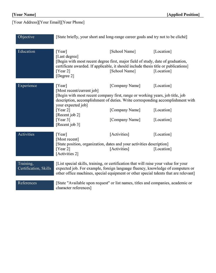 types resumes formats sample best student resume template examples education