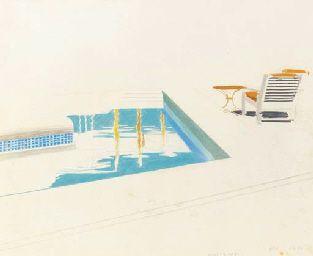 David Hockney. Swimming Pool, Marrakesh