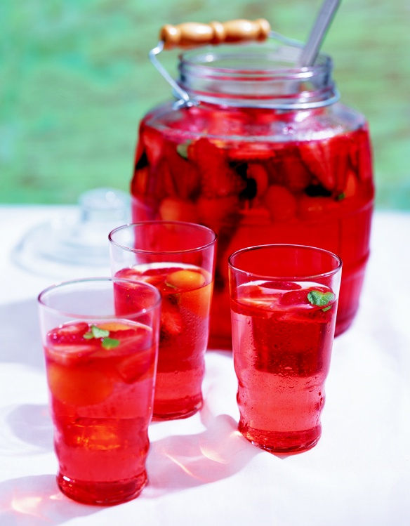 ... perfect for entertaining!) // Torani Watermelon-Strawberry Agua Fresca
