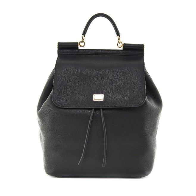 Τσάντα Dolce & Gabbana-Δέρμα Τελατίνι Γκοφρέ Γυναίκα > Τσάντες > Σακίδια / BackPacks Dolce & Gabbana Mαύρο