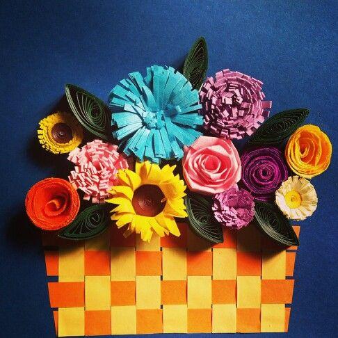Basket flowers...different kind flower basket