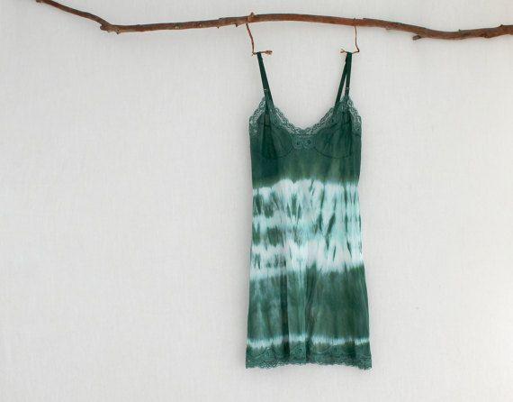 FOREST DWELLER . women's tie dye dress . size 10 by bohemianbabes