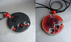 Playing with form...polymer clay pendant | Flickr : partage de photos !