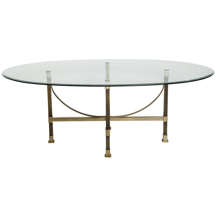 Oval Glass Dining Table 14 best oval glass & brass dining table images on pinterest