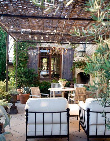 Romance: Decor, Ideas, Concrete Patio, Outdoor Living, Outdoor Rooms, Gardens, House, Outdoor Spaces