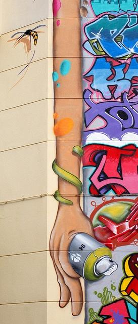 Graffiti en edificio de Córdoba - Detalle by SuperCuintin, via Flickr
