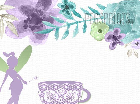 Hadas de té invitación invitación de cumpleaños de por PegsPrints